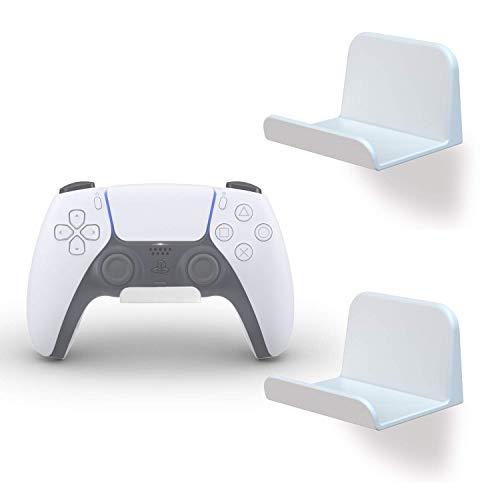 sciuU Supporto da Parete per Cuffie / Controller, [Set di 2] Gancio Adesivo 3M (incluso), Accessori Universali Appendi Cuffie per Gamepad di Xbox One, 360 / PS5 / PS4 / Nintendo, Senza Viti