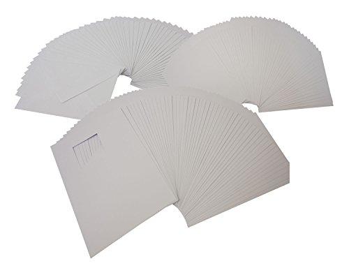 folia 8769 - Passepartoutkarten mit quadratischem Ausschnitt, weiß, DIN A6, 50 Karten und Kuverts - ideal zum kreativen Gestalten von Einladungen, Glückwunschkarten
