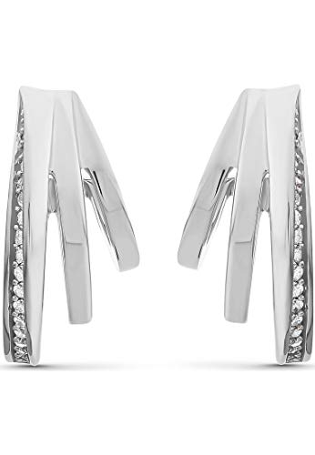 JETTE Silver Damen-Creolen 925er Silber 40 Zirkonia One Size 87745678