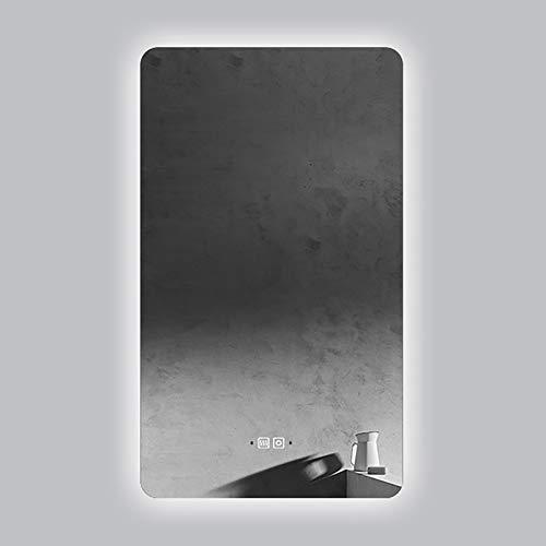 GETZ Espejo de Baño con Iluminación LED con Interruptor Táctil + Desempañador + 3 Colores de Luz + Brillo Ajustable + Inducción del Cuerpo Humano, Espejo de Baño Retroiluminado e Iluminado