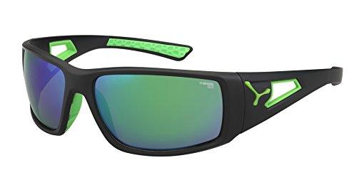 Cébé Session - Gafas de Sol Deportivas, Color Negro Mate/Verde