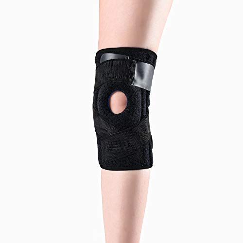 Knee Brace Providing Stable and Comfortable Support for Protection Against and Treat Knee Injuries,Knee Support with Strap Easily Adjustable