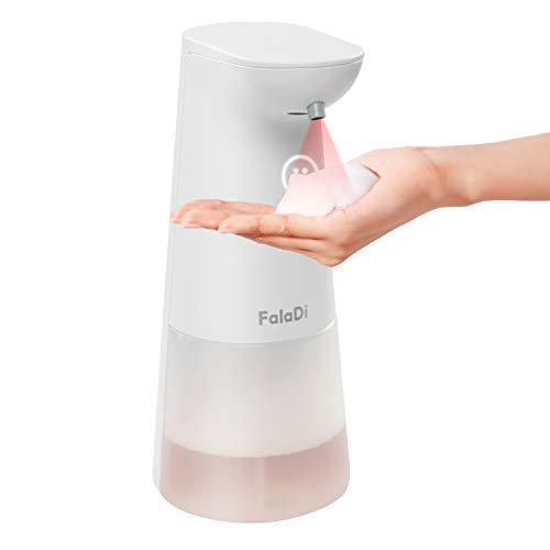 FalaDi Automatischer Seifenspender und Schaumseifenspender 250ml berührunglose mit Infrarot Sensor für Bad&Küche