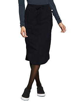 CHEROKEE Infinity Women Scrubs Skirt 30  Drawstring CK505A L Black