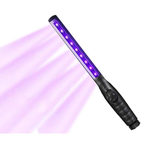 YCGJ UV-Licht-Desinfektionsstab Tragbare UV-Lampe Tragbares Handheld Mini-Hygienelampen-Desinfektionsmittel Haushaltslampen Mit 5 UVC- Und 4 UVA-Stoffen Ohne Chemikalien, Sterilisationsrate 99%
