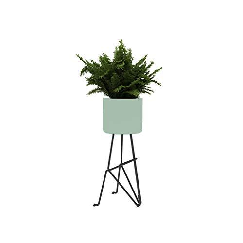 XIN Jardin Stand De Fleurs Art De Fer Fort Et Durable Style Nordique Simplicité Moderne Salon Intérieur Au Sol Étagère En Pot (Couleur : Green)