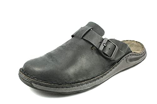 Josef Seibel Herren Pantoffeln Maverick 10, Männer Hausschuhe,Weite G (Normal),Backless,Gartenschuhe,Pantoffeln,Pantoletten,schwarz,42 EU / 8 UK