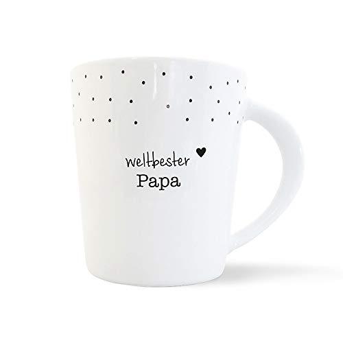 mintkind® Kaffeebecher Weltbester Papa | Geschenk-Idee für den Papa | Porzellan-Tasse als Geschenk für den Vater zum Vatertag, zum Geburtstag, zu Ostern oder zu Weihnachten