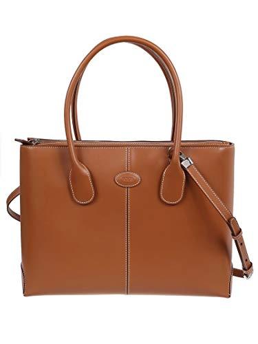 Luxury Fashion | Tod's Dames XBWDBAA0300RIIG807 Bruin Leer Handtassen | Lente-zomer 20