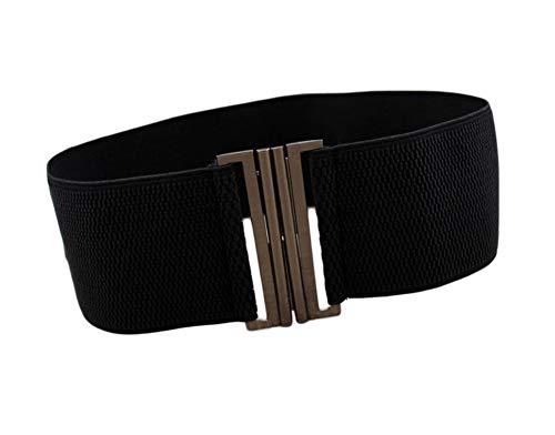 Oyccen Cinturón Elástico para Mujer Cinturones de Vestir Pretina Ancho con Hebilla de Metal