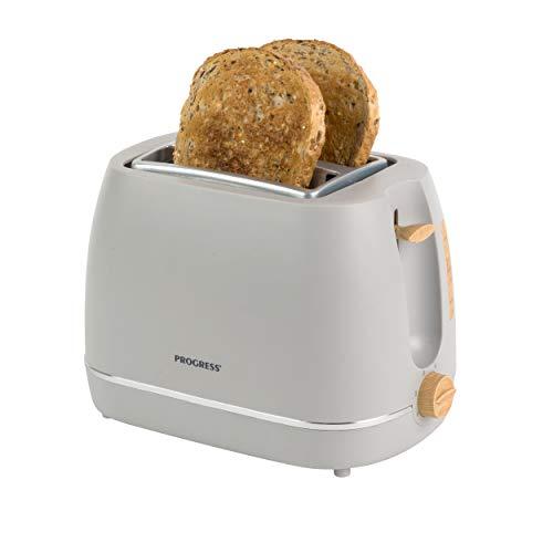 Progress® EK3756PGRY Scandi 2-Scheiben-Toaster mit Wärmeständer | 870 W | Grau