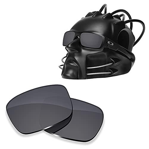 ToughAsNails Reemplazo de lente polarizada para Oakley Cigüeñal OO9239 Sunglass - Más opciones, Escudo Negro, Talla única