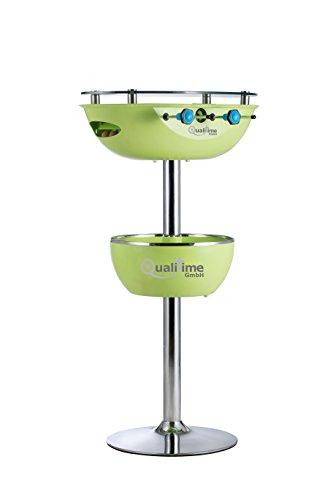 QualiTime GmbH Tischkicker mit Getränkekühler Partytisch Stehtisch 120 cm grün Kicker