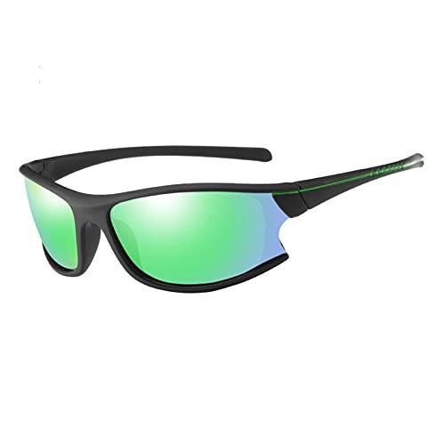 Gafas de Ciclismo Gafas de Sol polarizadas Hombres y Bicicletas para Mujer Deportes al Aire Libre Mountain Bike Bike Bike Gafas Green