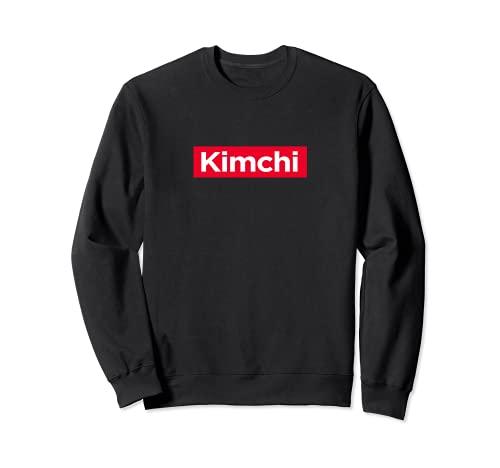 Kimchi KBBQ Caja Roja Logo Coreano Asiático Amante de la Alimentación Regalo Ramen Sudadera