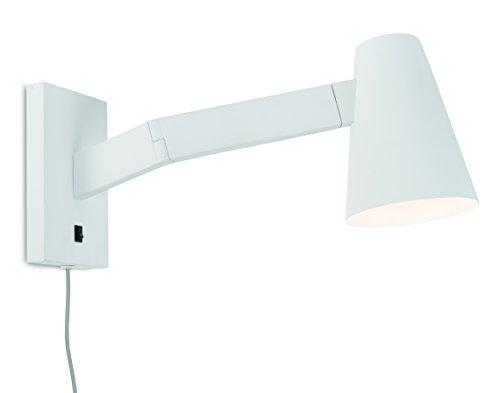 it's about RoMi BIARRITZ Wandlampe mit Schwenkarm, mit Schalter und für Steckdose, E14