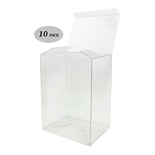 Gosu Toys Clear Plastic Protector Case Compatible for 4-inch Funko Pop Figures (10 Pack)