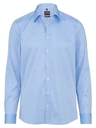 Olymp Herren Hemd Level 5 Body Fit Langarm, Stoned Blue, 39