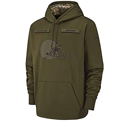 Cleveland Browns 2018 Men's NFL Salute to Service Olive Hoody (XX-Large)