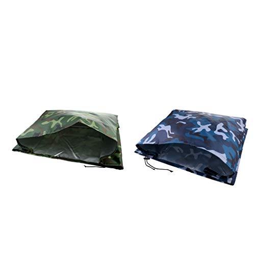 Sharplace 2pcs Housse Protection Couverture Imperméable Résistance UV pour Moteur Hors-Bord de Bateau 30 à 90HP
