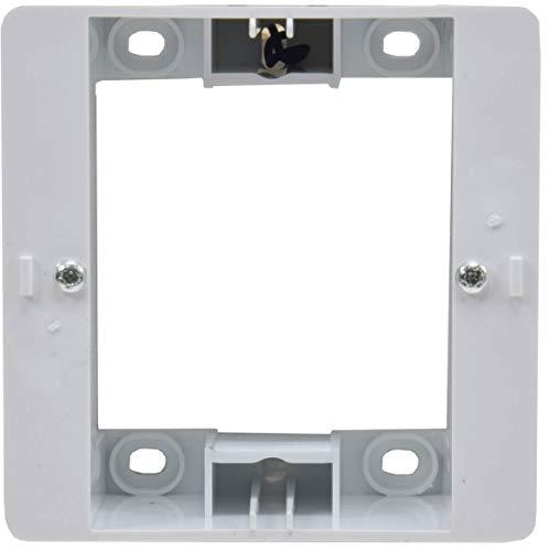 ChiliTec Delphi frame wit voor serie verzonken opbouw meervoudig frame elektrische installatie geschikt voor componenten schakelaars stopcontacten drukknoppen netwerk dimmer PIR USB-doos enz.
