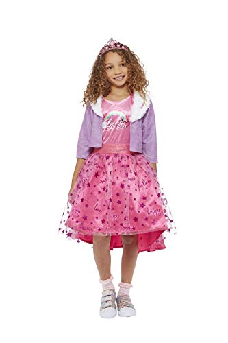 Smiffys Officially Licensed Barbie Princess Adventures Deluxe Costume Disfraz de princesa licencia oficial, color rosa, M-7-9 Years (52591M)