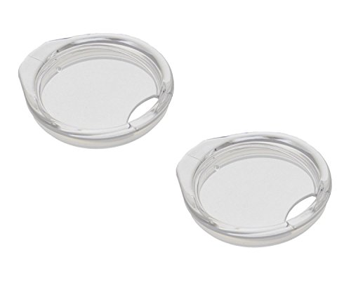 REDUCE Wine Tumbler Lid Replacement, Pack of 2 Lids – Clear Tritan Plastic, Splash Proof – Ideal for On The Go Drinking – Fits 12oz REDUCE Stainless Steel Vacuum Insulated Cup Only