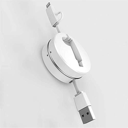 QINGTIAN Multi-USB-Ladekabel Einziehbares 3-in-1-Mehrfachladekabel mit Mini-Typ-C-Micro-USB-Anschlussanschlüssen Kompatibel Weit kompatibel Geeignet für Smartphones/Tablets