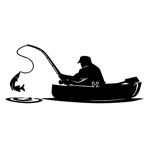 XYZHAIMA auto raam sticker visser vissen auto sticker motorfiets