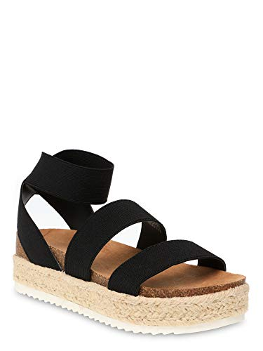 Time and Tru Women's Flatform Sandals Black Size Time and Tru  via @amazon