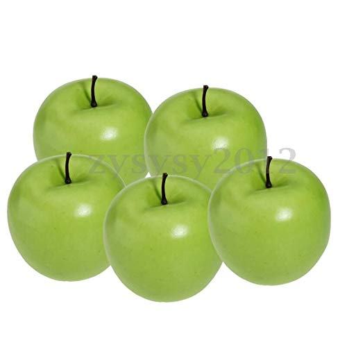 LACKINGONE 1~10 Stück große künstliche rote grüne Apfelfrüchte Küche Home Deko DIY grün