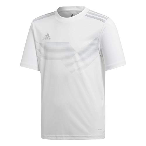 adidas Campeon 19 Jersey, Maglia Unisex Bambini, White/Clear Grey, 152