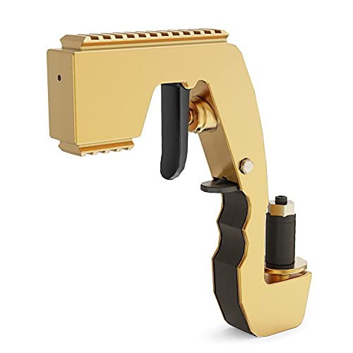 Pistola de champán con pistola de cerveza Blaster de giclée de champán ajustable, pulverizador de champán, spray, para fiestas, yates o bodas (amarillo)