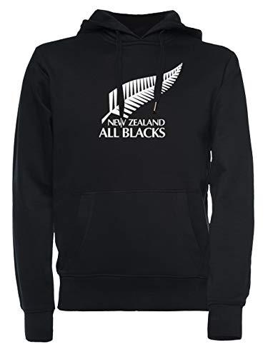 New Zealand All Blacks Hombre Mujer Unisexo Sudadera con Capucha Negro Todos Los Tamaños - Women's Men's Unisex Sweatshirt Hoodie Black