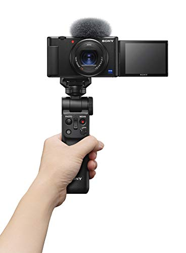 Sony Digital Vlog Camera ZV 1 (Compact, Video Eye AF, Flip Screen, in-Built Microphone, Bluetooth Shooting Grip, 4K Vlogging Camera and Content Creation) - Black