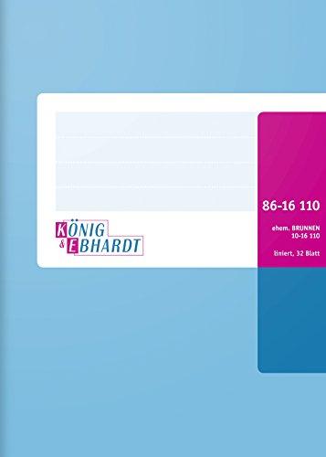 König & Ebhardt 8616110 Geschäftsbuch / Kladde (A6, liniert, mit festem Kopf, 70g/m², 32 Blatt Drahtheftung)