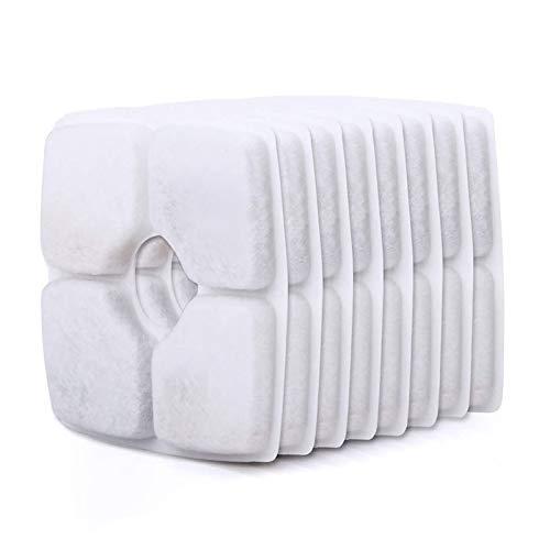 ERWEY Ersatzfilter für Trinkbrunnen für Katzen und Hunde, Ersatzfilter (8 Pack Quadratisch)