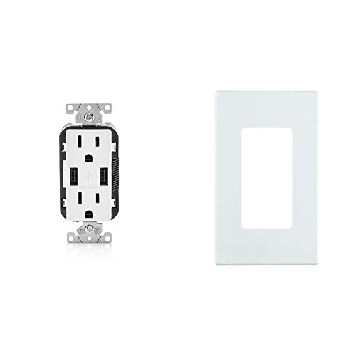 Leviton T5632-W USB Charger/Tamper-Resistant...