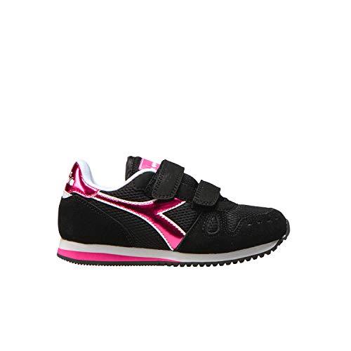 Diadora Simple Run PS Girl, Scarpe da Ginnastica, Black, 31.5 EU