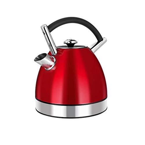 XJJZS Acero Inoxidable De Apagado Automático Caldera, 1.7L Hogar Caldera, 1800W De Alta Potencia, De Color Rojo