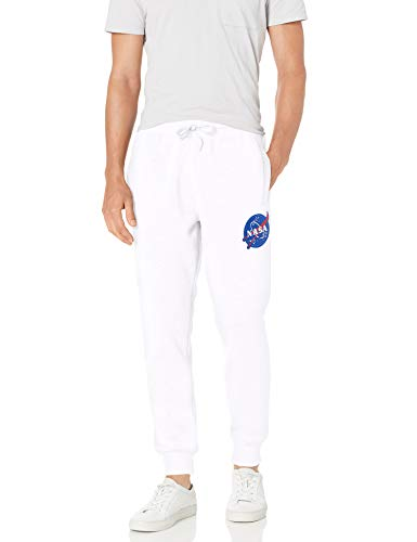 Southpole Herren NASA Collection Fleece Jogger Pants Jogginghose, Weißer Aufnäher, Groß