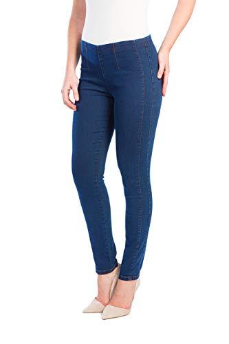 STOOKER Sienna Damen Stretch Röhren Jeans Hose Slim Fit - Blue Denim (DOB50 / L30)