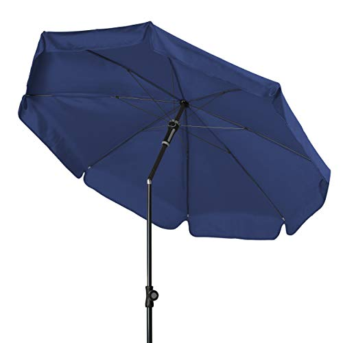 Doppler - Hochwertiger Sonnenschirm für den Balkon - Knickbar - Wetterfest - UV-Schutz 50+ - Blau - 150 cm