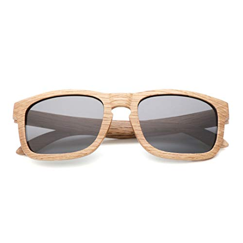 Lozse Occhiali da Sole in Legno UV400 Occhiali protettivi di Protezione UV polarizzati per Esterni Maschili per Uomo e Donna