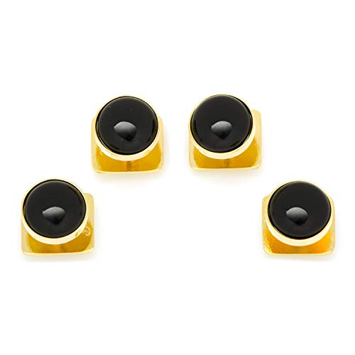 Gold and Onyx Tuxedo Studs Only