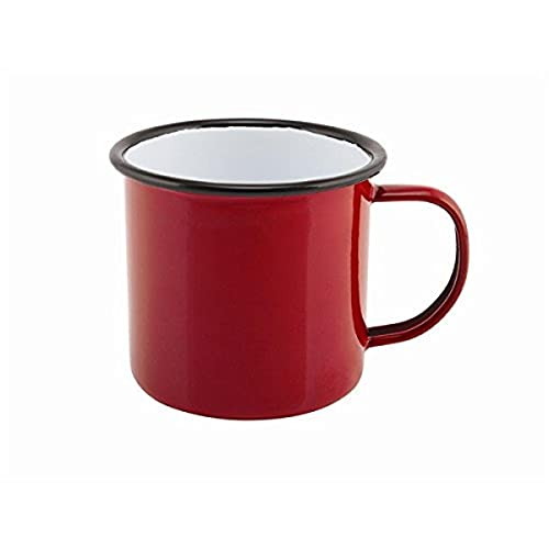 Genware nev-50018red Emaille Tasse, 36cl/12,5oz, rot