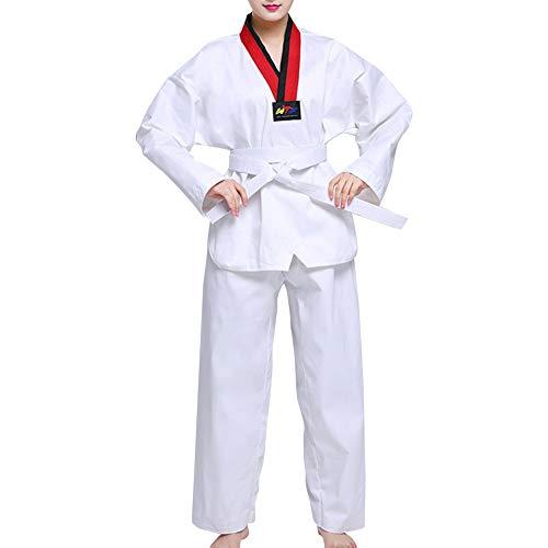uirend Artes Marciales Ropa Niños Adulto Unisex Trajes Taekwondo Dobok Conjuntos - Estudiantes Peleador Completo Algodon Poli Uniforme Gi Rendimiento Judo Muay Thai Karate Kungfu Performance Escenario