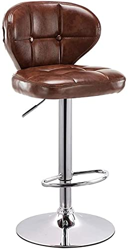 Wenli - Taburete de bar regulable, silla de bar, taburete de bar, taburete alto, silla de respaldo, sin rotación (63-83 cm) (color Brown Size: 41 cm)