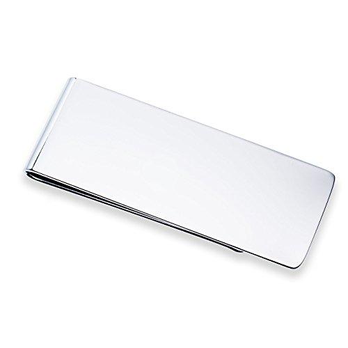 argentato in acciaio inossidabile, 56 x 21 x 5 mm