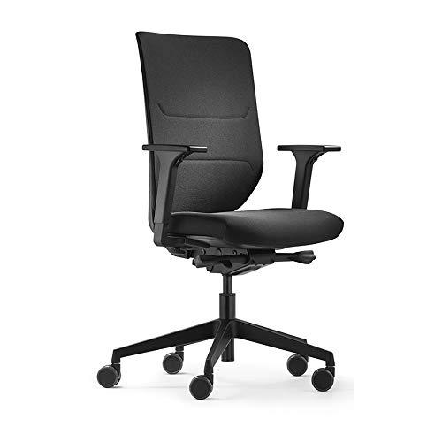 Trendoffice to-sync Comfort pro, ergonomischer Bürostuhl, schwarz, mit Armlehnen, modernes Design, Homeoffice, umweltzertifiziert, by Dauphin